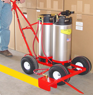 Trusco trueline model 250 apt air pressure tank paint for Cost to paint parking lot lines